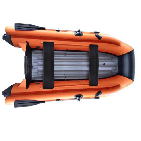 Лодка ПВХ надувная моторная HD 360 с фальшбортом оранж(2)