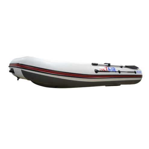 Лодка ПВХ надувная моторная HD 320 НДНД (бело-серая)