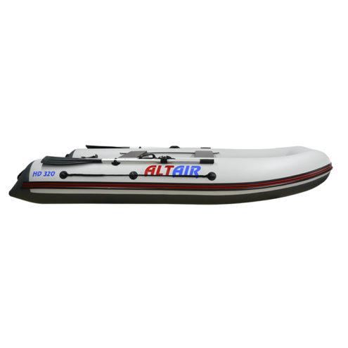 Лодка ПВХ надувная моторная HD 320 НДНД (бело-серая2)