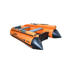Моторная надувная лодка ПВХ HD 380 НДНД с фальшбортом оранж альтаир