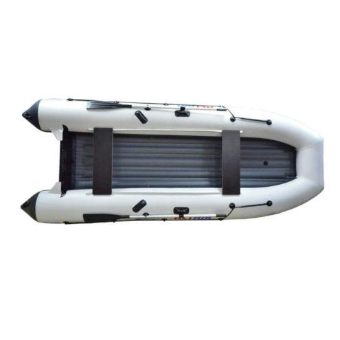 Лодка ПВХ надувная моторная HD 430 бело-серая (11)