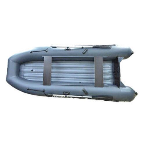 Лодка ПВХ надувная моторная HD 430 серая (2)